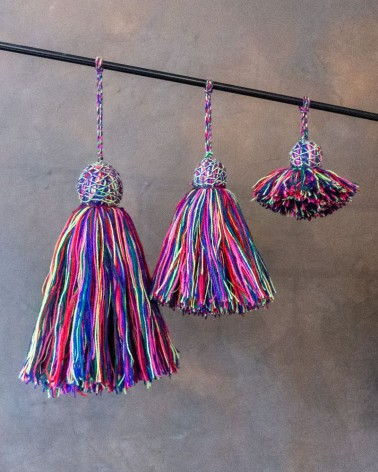 Pompons Multicolores les filles de l'atlas by Heritage Design