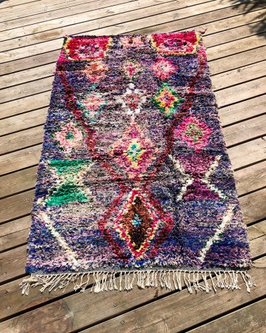 Tapis Boucherouite Space mis en situation